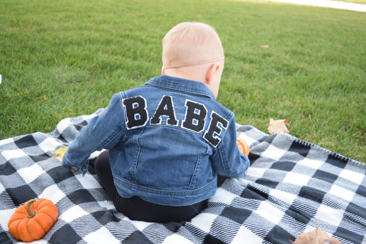 Blonde Style Blog BABE Jean Jacket DIY Iowa Fashion Blogger 1
