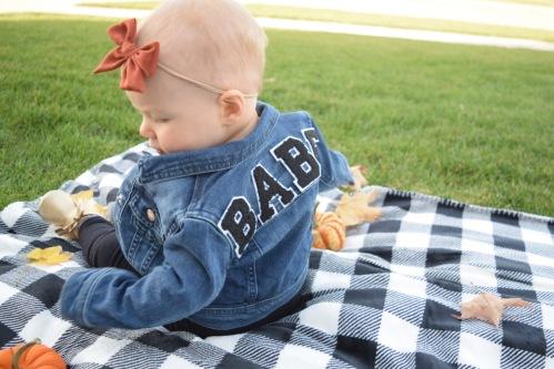 Blonde Style Blog BABE Jean Jacket DIY Iowa Fashion Blogger 2