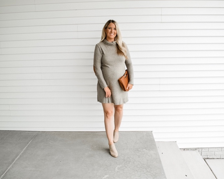 Olive Cowl Neck Dress | PinkBlush Gift CardGiveaway