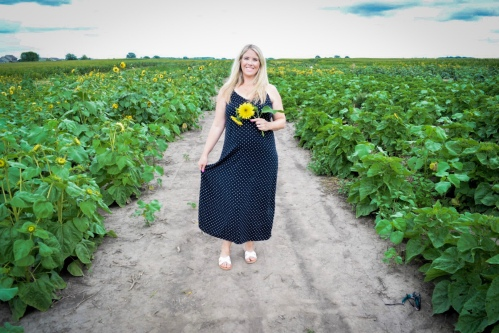Colony Pumpkin Patch Sunflower Festival Old Navy Maxi Dress Blonde Style Blog 1